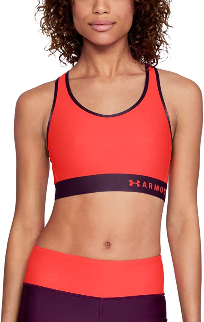 TALLA XS. Under Armour Mid Keyhole, Sujetador Deportivo Mujer