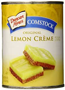 Duncan Hines Comstock Pie Filling & Topping, Lemon Cream, 21 Ounce (Pack of 8)