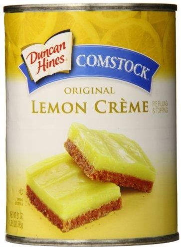 Comstock Original Pie Filling & Topping, Lemon Cream, 21 Ounce (Pack of 8)
