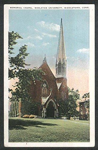 Memorial Chapel Wesleyan University Middletown CT postcard 1926