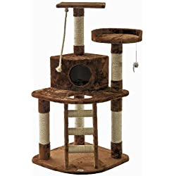 Go Pet Club Cat Tree,47.5-inch,Brown
