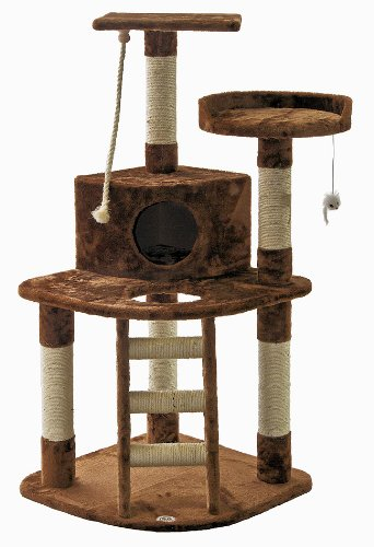 Go Pet Club Brown Cat Tree, F49, My Pet Supplies