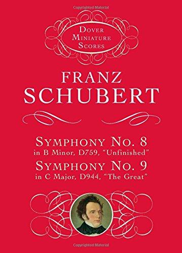 Symphonies Nos. 8 & 9 (Dover Miniature Music Scores)