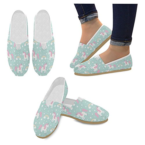 Shoes InterestPrint Fashion Sneakers Flats Womens Canvas Slip Classic On 25 Loafers Casual Multi qSwUpT1q