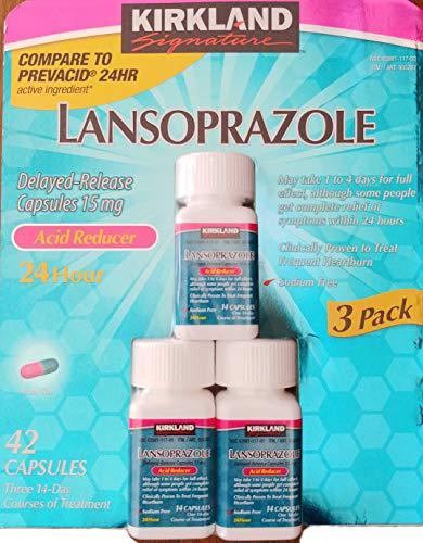 Kirkland Lansoprazole 3 Pack Delayed-Release Total 42 Capsules (Best Treatment For Restless Legs)