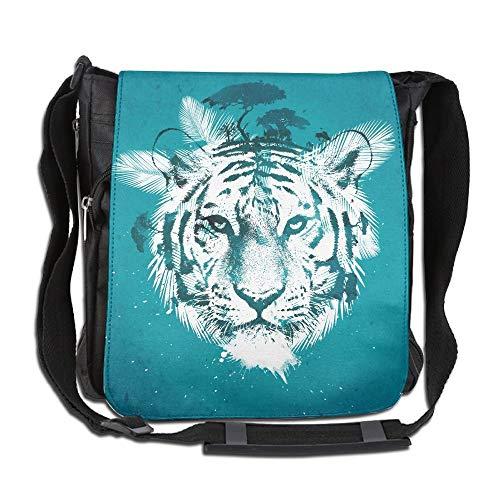 FANRENYOU White Tiger Art Fashion Print Diagonal Single Shoulder Bag]()