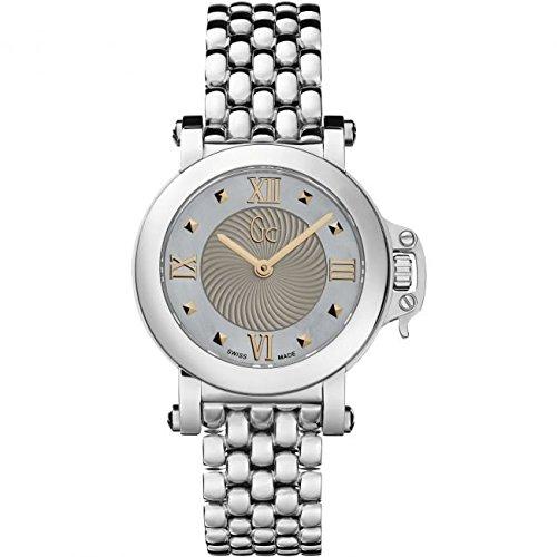 Guess Collection Femme Bijou X52002L1S 30mm Silver Steel Bracelet & Case Synthetic Sapphire Women's Watch