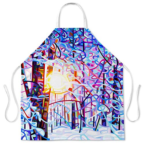 Designer Kitchen Aprons from DiaNoche Designs by Artist Mandy Budan - Early Riser. Unique Artististic ()