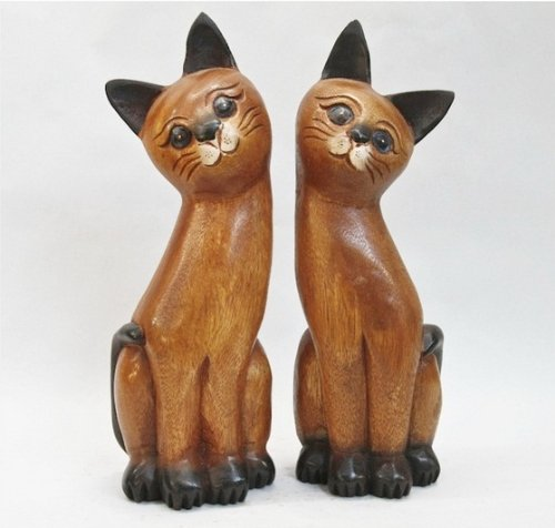 Gift Decor, Wooden Cat Lovers – Thai Handmade Decor