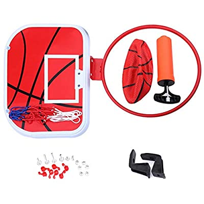 Vbestlife Mini Basketball Board Hanging Mini Basketball Netball Hoop for Indoor Outdoor Kids Game Toy Ball Set Sport Exercise with Air Pump: Toys & Games