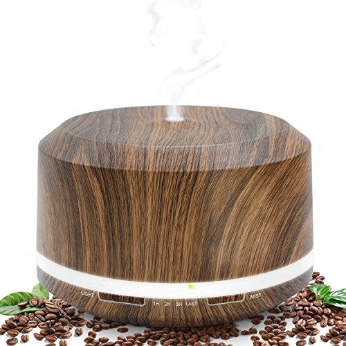 Essential Oil Diffuser 450ml, Wood Grain Aromatherapy Diffusers and Air Humidifiers Set for Large Room – LUSCREAL Gift Idea 51zEHVrh iL