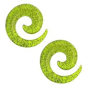 2 Piezas o 2 Set Espiral Extensor de Acrilico Dilatador Taper Expansor Stretcher Piercing 1,