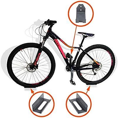 Soporte de rueda para pedal de pared de bicicleta, soporte para bicicleta, soporte para bicicleta, MTB, gancho de almacenamiento interior, 3 piezas, color gris: Amazon.es: Deportes y aire libre