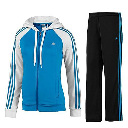 adidas Damen Trainingsanzug Young Knit Suit Solar Blue2 S14/White XXS/Long
