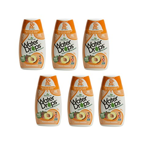 Sweetleaf Stevia Natural Water Drops Peach Mango, 1.62 Ounce (Pack of 6)
