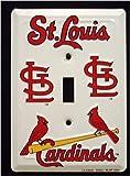 St Louis Cardinals MBL Aluminum Novelty Single Light Switch Cover Plate