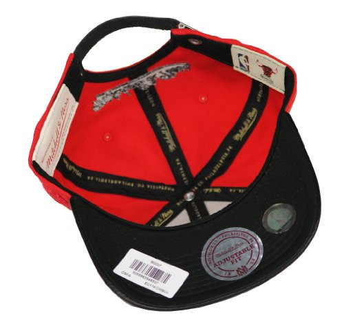 Mitchell & Ness - Casquette Strapback Homme Chicago Bulls Wool-Leather