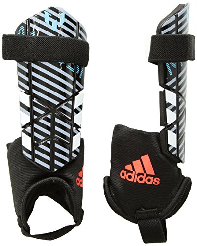 adidas Messi 10 Youth Shin Guards, Black/Uniink/Hiregr, Medium