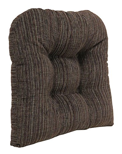 Klear Vu Polar Extra Large Gripper Non-Slip Overstuffed Chenille Fabric Tufted Dining Chair, 17 L x 17 W x 3 H inches, Chocolate