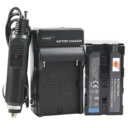 DSTE NP-F750 Battery + DC01 Travel and Car Charger Adapter for Sony CCD-TRV215 CCD-TR917 CCD-TR315 HDR-FX1000 HDR-FX7 HVR-V1U HVR-Z7U HVR-Z5U Camera as NP-F730 NP-F770