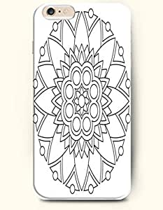 SevenArc Apple iPhone 6 Plus 5.5' 5.5 Inches Case Moroccan Pattern ( Black and White Flower ) by lolosakes