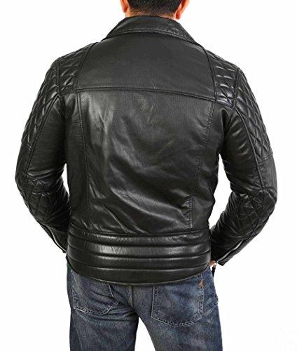 In Motociclista Nero Weston Pelle Attrezzato Stile Progettista Giacca Uomo Cappotto Vera 7tqv5vSw