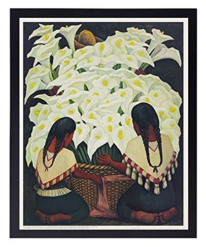 Calla Lily Vendors (Vendedora De Alcatraces), 1943 By Diego Rivera Poster Art Print (16
