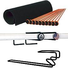 Gun Storage Solutions 10 Pack Orange Rifle Rod Starter Kit Bundle with 2 Original Handgun Hangers and 1 Under Shelf Magazine Holder