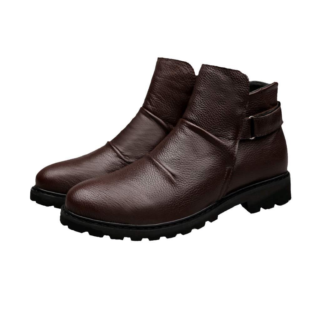 Männer Männer Männer Mode Casual Martin Stiefel Werkzeug Schuhe DarkBraun 5d468f