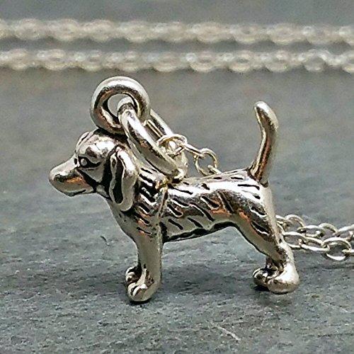 Tiny Beagle Necklace - 925 Sterling -