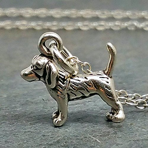 Tiny Beagle Necklace - 925 Sterling Silver