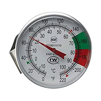 """Espresso Supply 11507 Easy Steam Thermometer with 7"""" Stem"""