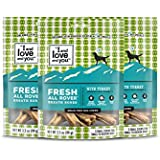 """""""I And Love And You"""" Fresh All Rover Dental Bones Grain Free Dog Chews, 5 Small Dog Chews, 3.5 Oz (Pack Of 3)"""