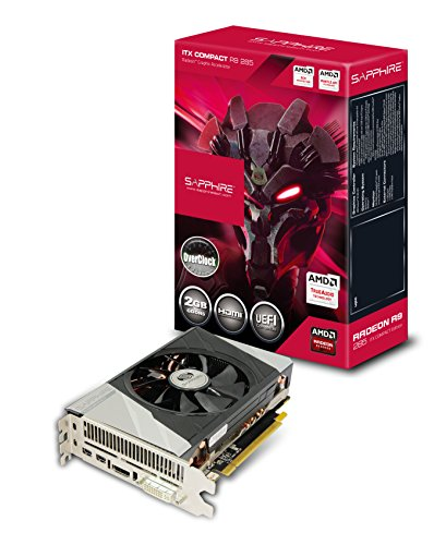 Sapphire Radeon R9 285 2GB GDDR5 HDMI/DVI-I/Dual Mini DP ITX Compact OC Version PCI-Express Graphics Card 11235-06-20G