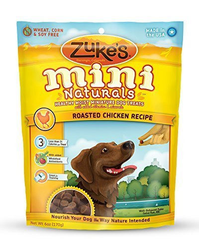 Zuke's Mini Naturals Dog Treats, Roasted Chicken Recipe, 6-Ounce by Zuke's - Zukes Chicken Cat Treats