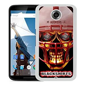 Fashionable And Unique Designed Case For Google Nexus 6 Phone Case With Ncaa Big Ten Conference Football Nebraska Cornhuskers 14 White