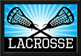 Lacrosse Blue Sports Poster Print Framed Poster 21 x 15in
