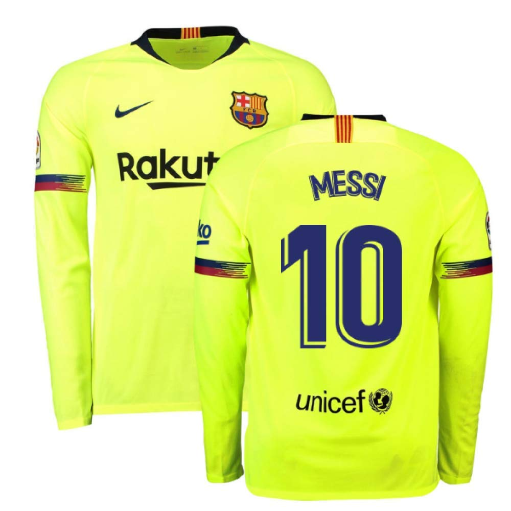 best loved 81435 58f4b Amazon.com : 2018-2019 Barcelona Away Nike Long Sleeve ...
