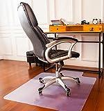 Image of Mysuntown Office Chair Mat with Lip, Polycarbonate Anti Slip Hard Floor Protective Mat