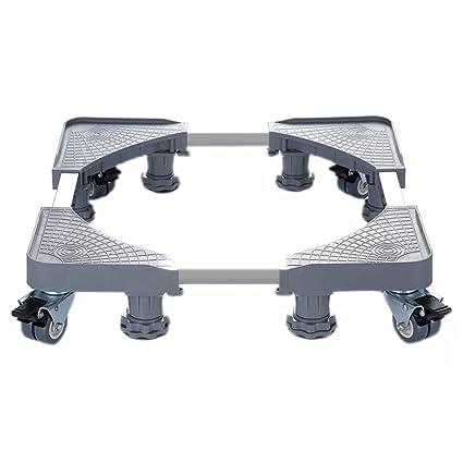 XXGI Base ajustable móvil multifuncional con 8 ruedas giratorias de goma de bloqueo y 8 pies