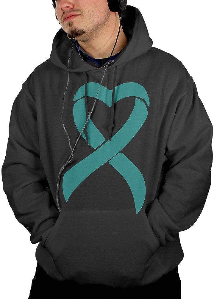 Ovarian Cancer Ribbon Sportswear with Pockets KEQ/&JSW Mens Casual Sweatshirt Hoodie