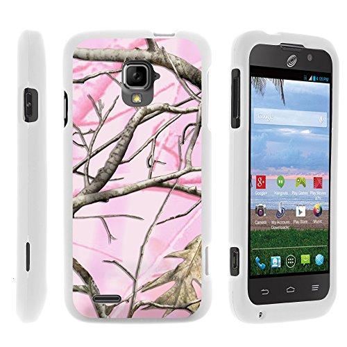 MINITURTLE Case Compatible w/ ZTE Rapido LTE Phone Case, Perfect Fit Cell Phone Case Hard Cover w/ Cute Design Patterns for ZTE Rapido LTE Z932L - Pink Hunter - Zte Phone Lte Cover For Rapido