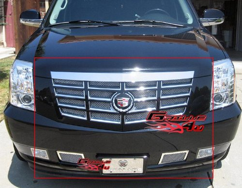 Fits 2007-2014 Cadillac Escalade Stainless Steel Mesh Grille Grill Insert Combo # A77825T Cadillac Escalade Chrome Mesh