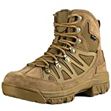 FREE SOLDIER Outdoor Men's Tactical Military Combat Ankle Boots Water Resistant Ligtweight Mid