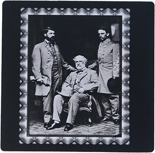 3dRose Generals Robert E Lee Curtis Lee and Colonel Walter Taylor by Mathew Brady 1865 Civil War Photo Mouse Pad (mp_160767_1)