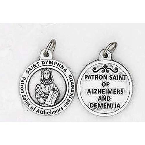 St. Dymphna Round Saint Healing Medal for Alzeheimer's