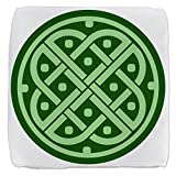 13 Inch 6-Sided Cube Ottoman Celtic Knot Interlinking