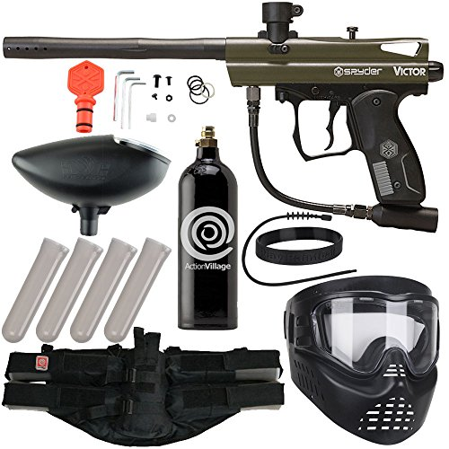 - Action Village Kingman Spyder Epic Paintball Gun Package Kit (Victor) (Olive)