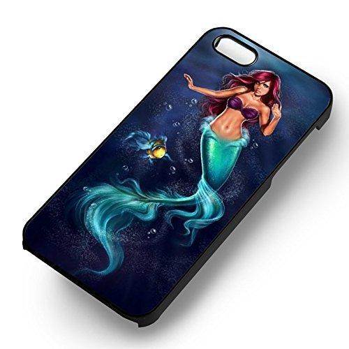 Ariel The Little Mermaid Beautiful Painting pour Coque Iphone 6 et Coque Iphone 6s Case (Noir Boîtier en plastique dur) C0Y1FJ