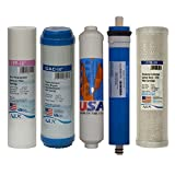 Universal 5 stage Reverse Osmosis Replacement Filter set with 75 GPD membrane, USA